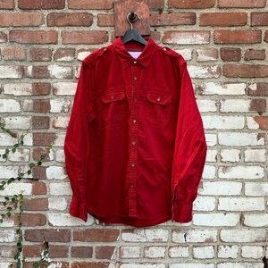 Guess Jeans Co. Button Down Dress Shirt Red Sz L